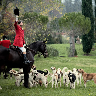 Master of Foxhounds with Pack and Whipper-in