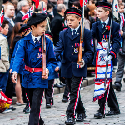 Children Marching in the Celebratory Parades