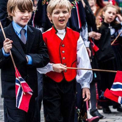 Children along the Streets of Bergen during the Constitution Day