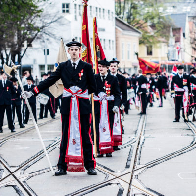 Young Norwegians Represent the Nation during the Celebratory Parades