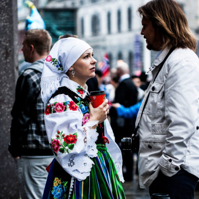 Women wear the traditional costume more often than men do