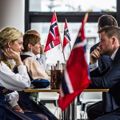 Norwegians from the Lofoten Islands Celebrating the Constitution Day