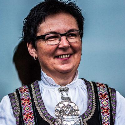 Norwegian Woman Wearing the Traditional Costume on the Bryggen Dock in Bergen nextprevious