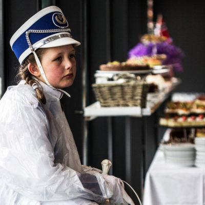 Young Majorette just Finished a Celebratory Parade in Svolvær, Lofoten
