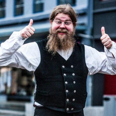 Eccentric Citizen of Bergen Posing for a Photo