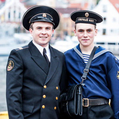 Russian Sailors Resting in Bergen during the Constitution Day