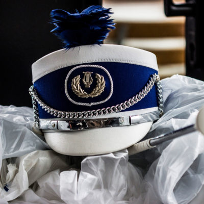Majorettes' Accessories Left on a Stool