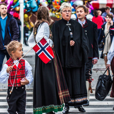 Several Generations Wearing the Traditional Costume