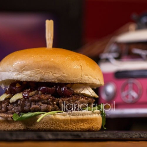 Beef Blueberry and Brie Burger