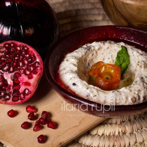Labneh with Herbs and Vegetables