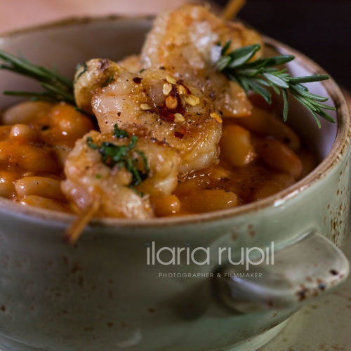 Venice Beans Soup with Shrimps
